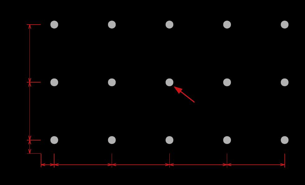 Distancia entre tacos paneles bausatei